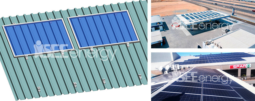 Railless Solar Mounting Structure For Metal Roof