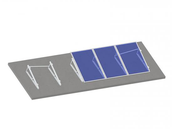 Solar mounts for flat roofs